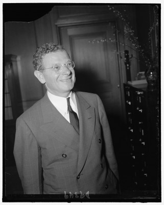 Sidney Hillman, c. 1940. Courtesy of the Library of Congress.