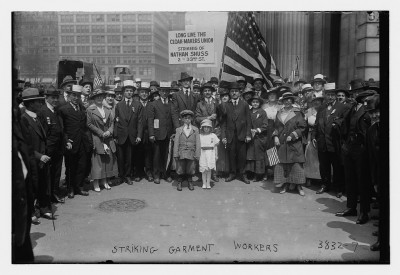 Striking garment workers, NYC, c. 1915-1920. Courtesy of the Library of Congress.