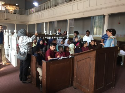 Vanguard students in the Lloyd Street Synagogue.