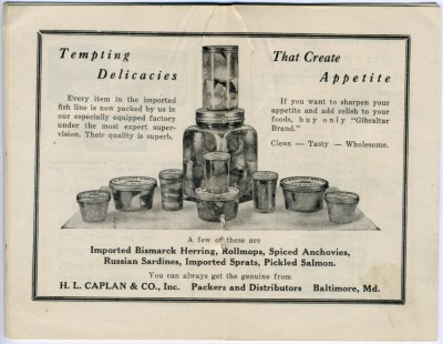 Caplan and Co, advertisement, 1933. Gift of Mrs. Renee Piel. JMM 1993.104.3.4