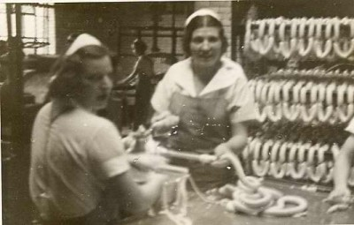 Polish women making sausage at Wolf Salganik & Sons, c. 1930. JMM 2004.27.4
