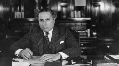 Russian-born American film mogul Louis Burt Mayer (1885 - 1957), head of production at MGM, circa 1935.  (Photo by General Photographic Agency/Getty Images)