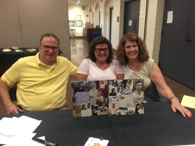 The Rozga siblings make collages honoring their parents.
