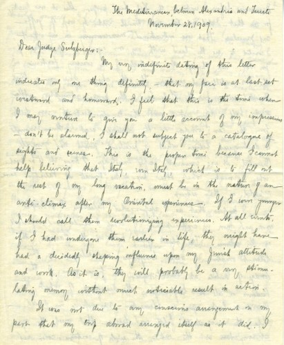 The Letter, page 1