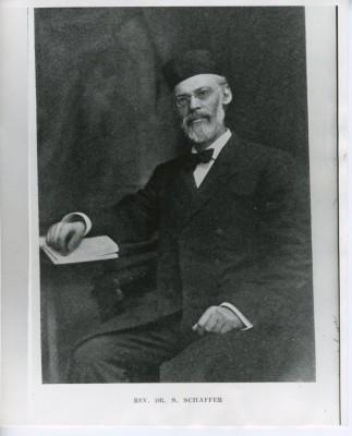 "Rabbi Dr. Schepsel Schaffer, (1862-1933), made from ""The Jews of Baltimore"", by Isidor Blum. JMM 1999.121.1"