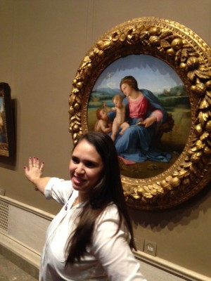 Hannah and The Alba Madonna.