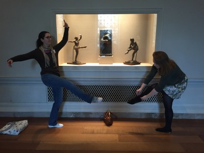 Joanna and Trillion present their best ballet legs in the Degas gallery.