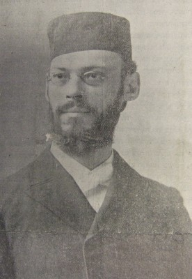 Schepsel Schaffer, c. 1897. From the newspaper Ha'Ivri. Courtesy of Yeshiva University, Mendel Gottesman Library.