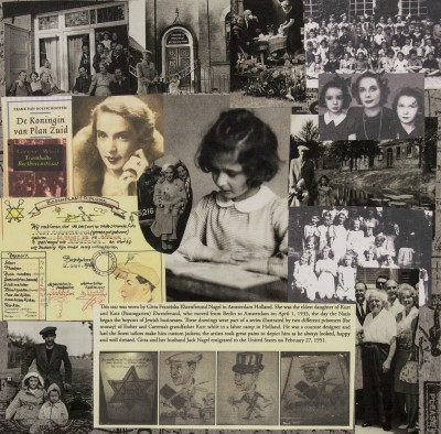 A collage made to honor and remember Gitta Nagel.