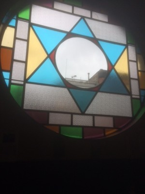 Vilna's stained glass window