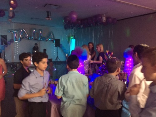 Celebrating a bar mitzvah