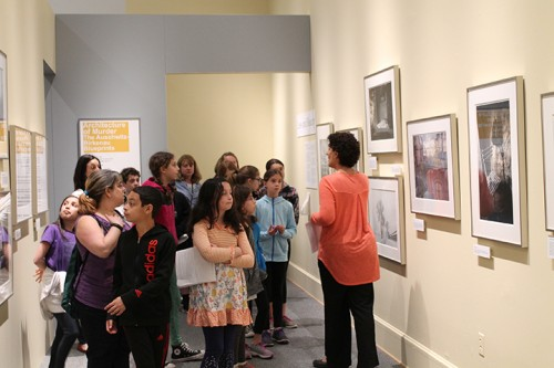 Ilene Dackman-Alon leads Morrell Park EMS students through Remembering Auschwitz.