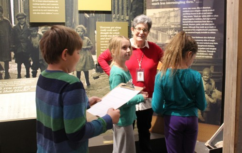 "Lois tours students through ""Voices of Lombard Street"""