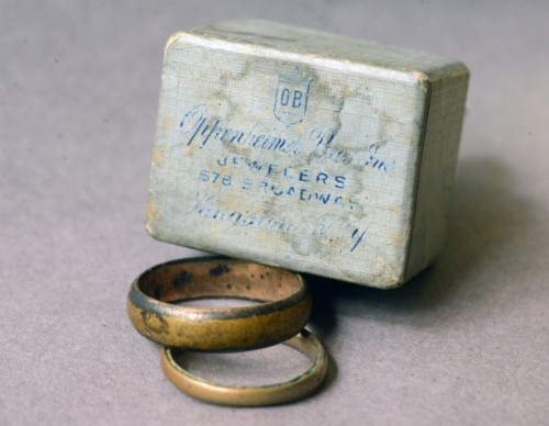 Family wedding rings submitted to the museum by Angela Barnes, that are discussed in the episode and posted on its Tumblr page.
