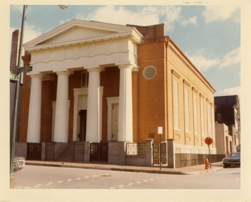 The Lloyd Street Synagogue before its exterior facelift to its present, historically accurate shade of pink!