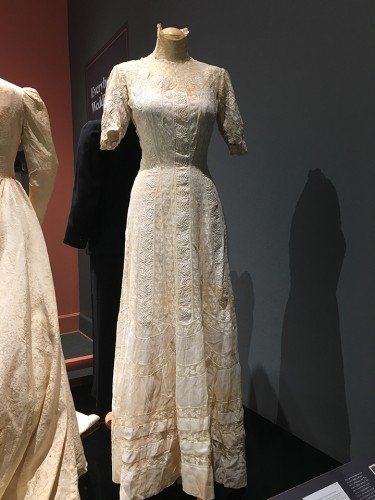 One of the dresses in the exhibit that required very careful handling and needed padding for shape.
