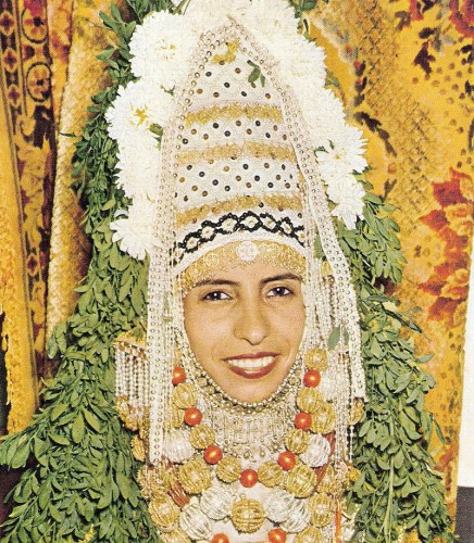 Yemenite bride, 1958. via.
