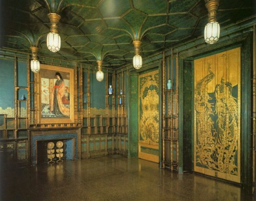 The combination of blue-greens and gold made the Peacock Room stand out for me. Normally I'm used to seeing art on a canvas, not in a whole room. I still go straight to this room when at the Freer Gallery of Art.