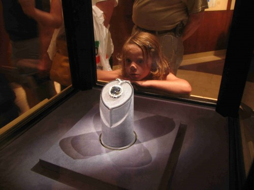 I was just like this small child, staring in wonder at the Hope Diamond while on a field trip at the Smithsonian Museum of Natural History.