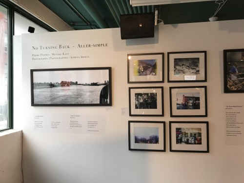 "The Museum's small photograph exhibition titled ""No Turning back – Aller simple."" It features beautiful photographs and poems."