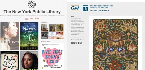 NYPL and GW Textile Museum Tumblrs!