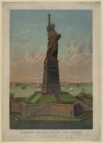 """Liberty enlightening the world,"" courtesy of the Library of Congress."