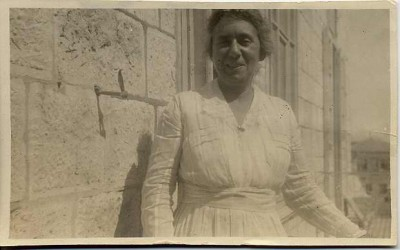 Henrietta Szold at AZMU in Jerusalem, c. 1920. JMM 1992.242.7.42a
