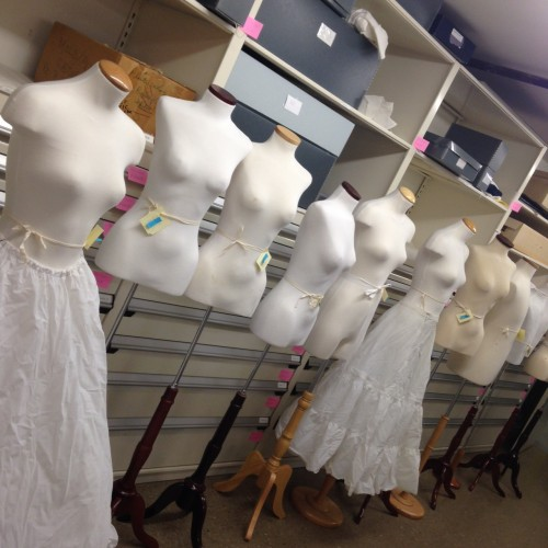Each of these mannequins has their own name and were used for displaying textiles in the Just Married! exhibit.
