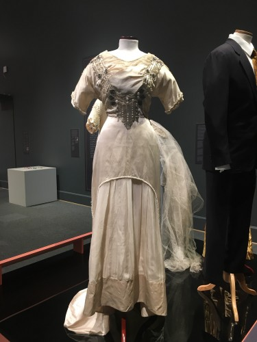 The wedding dress we will discuss and describe in our first episode.