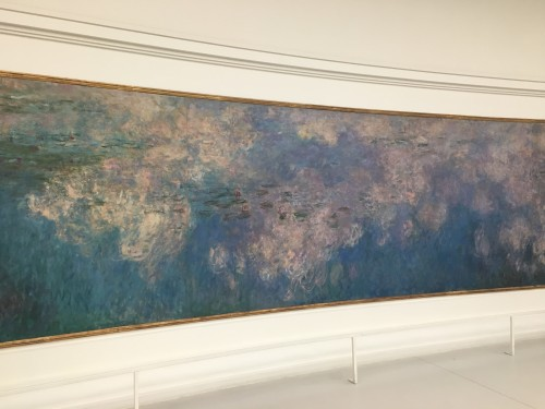 One of Monet's Water Lilies Paintings in the Musée de l'Orangerie, Paris