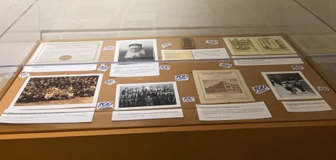 The display they created in the Lloyd Street Synagogue