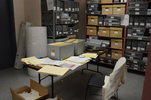 The JMM Archives Room, where I've been spending a lot of my time!