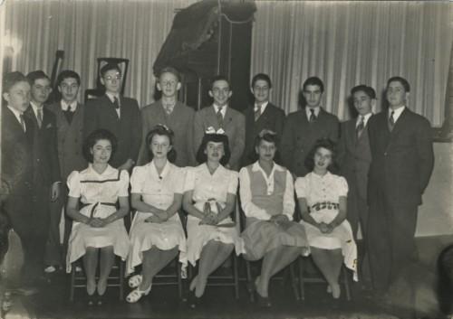 Isaac Davison High School graduation class, 1942. JMM 1997.196.3