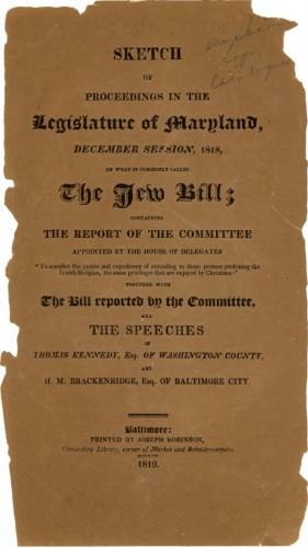 The Jew Bill, JMM1987.082.001
