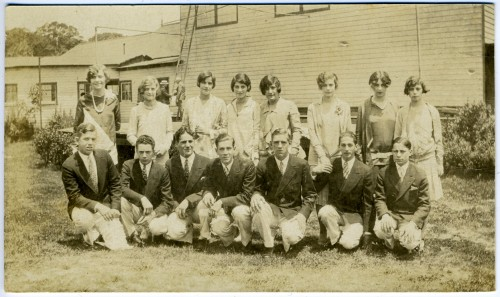 I was delighted to find a photo of graduating high school students from my alma mater, The Park School, 1927. JMM 1991.126.12