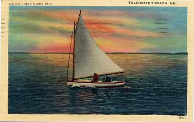 Sailboat, 1942. JMM K2004.3.100