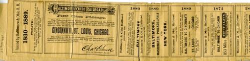 B & O Railroad Ticker Souvenirs, JMM1991.147.034