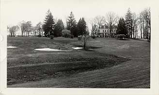 18th Green and Fairway at the Woodholme Country Club, April 24, 1930. Photograph by the Baltimore News.