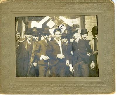 Julius Braun, Harry Schaeneman, Lenny Wertheimer, Suburban Club, 1911. JMM 1997.113.5