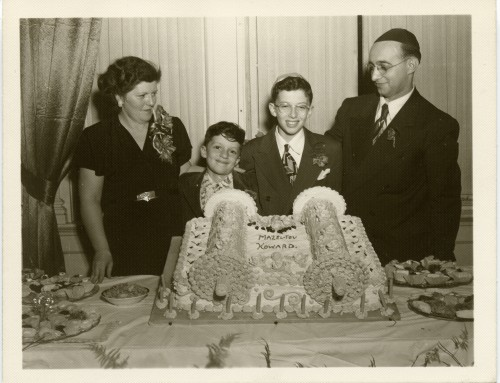 The bar mitzvah of Howard Feldstein, Cumberland, 1949. Courtesy of Howard and Ana Feldstein, L2002.83.1.