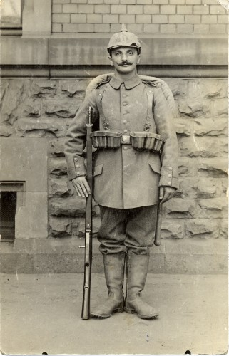 Theo Weil in German military uniform, September 29, 1915. Courtesy of Brenda Mandel, L2002.103.1129.