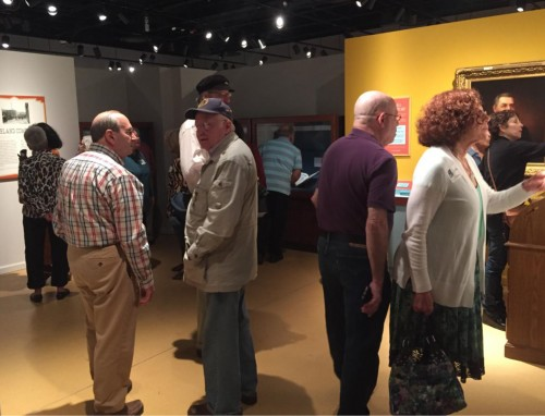Maltz Museum members enjoying the exhibit.