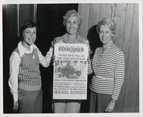 The Women's Division Effort of Israel Bonds makes their appeal to fellow Maryland Jews by recalling the sacrifice of those involved in the Yom Kippur War. JMM 1994.21.27