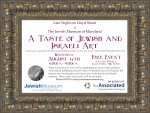 Taste of Jewish and Israeli Art Flyer copy