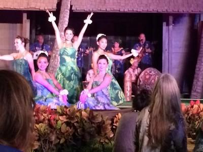 The luau dancers