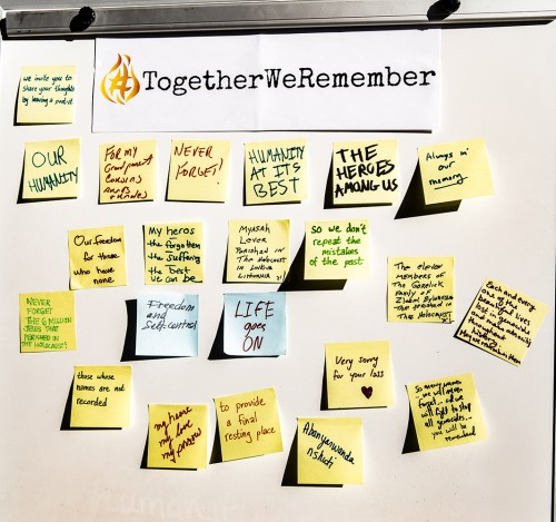 Participants left meaningful notes
