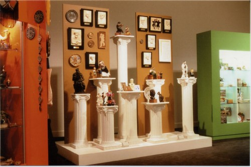 """A selection of figurines from the JMM's 2000 """"Tchotchkes"""" exhibit."""