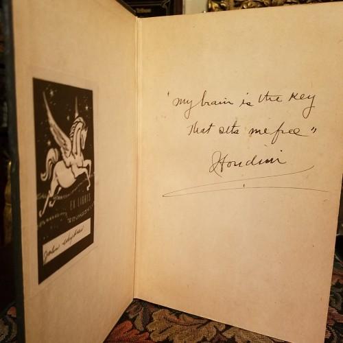 """My brain in the key that sets me free"" -Houdini"