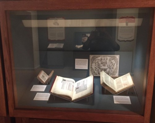 Even though I knew that the books on display were facsimiles, I was so impressed by the quality of the reproduction and had to make sure that the docents were aware of the fact that what is on display are not the actual books that Harry owned.