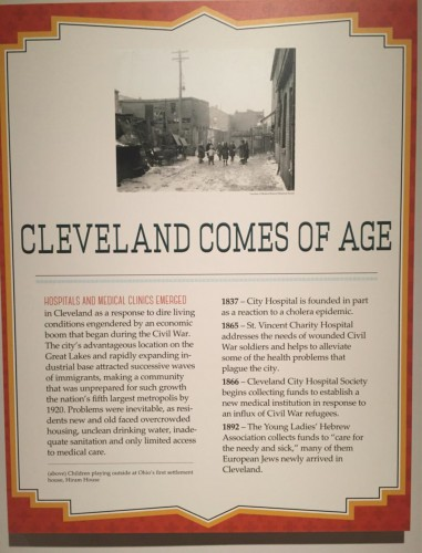 I also enjoyed seeing how the staff at the Maltz Museum had incorporated new text panels, photos and artifacts that tell the local experience of Cleveland's Jewish community.
